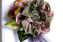 Květiny / Ručně vyrobené květiny, šperky z látkových květin, květinové dekorace