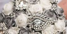 Brooch Bouquets / Our beautiful brooch bouquets are made using the very best top quality non-tarnish glass brooches. They are a forever keepsake from your Wedding Day and you will smile everytime you see it.