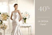 Promoţii La Sposa şi White One / O selecţie de modele de rochii de mireasă din colecţiile La Sposa şi WHite One, disponibile în magazinul nostru la preţuri reduse.