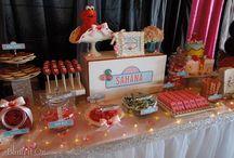 Sahana's 1st Birthday / Elmo Candy Buffet