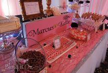 Marcus & Kattie's Wedding / Blush Candy Buffet