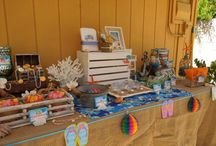 Amber's Beach Party ~ 18th Birthday / Beach Party Candy Buffet