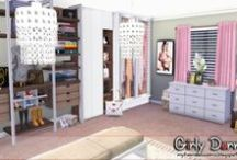 "My Sims 4 Walk in Closets (Decoration) / All my decorated ""Walk in Closet"" and Dresser Area in Sims 4"