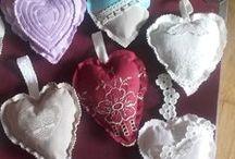 coeurs / Cœurs en tissu