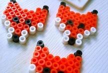 FIMO, HAMA, ... / Bastelanleitungen für Hama-Perlen und Fimo; tutorials for creating with hama beads and fimo;  #hama #fimo #beads