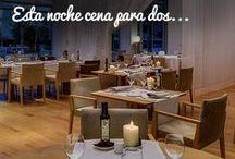 Restaurante Celebris / El Restaurante Celebris ofrece la combinación perfecta de buena gastronomía, una bodega selecta y actual y unas vistas únicas. La luz invade el restaurante durante el día y permite por la noche una ventana a la oscuridad, rota por la iluminación de los emblemáticos y modernos edificios y puentes de esta nueva Zaragoza.