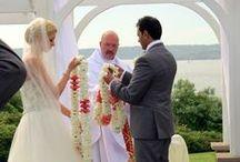 Lei Exchange Ceremony / Photos of the Hawaiian Lei Exchange during a Wedding ceremony.