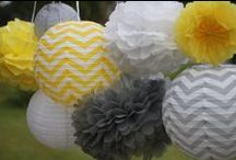 Wedding Theme: Chevrons / A quirky touch to brighten up for wedding decorations.