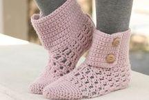Crochet - Slippers\Shoes\Socks (Chinelos\sapatilhas\meias)