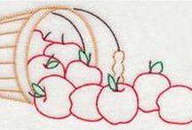 Embroidery - Fruits & Vegetables (Bordado Frutas e Vegetais)