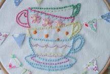 Embroidery - Tea & Coffee (Bordado Chá & Café)