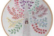 Embroidery - Trees & Leaves (Bordado Árvores e Folhas)