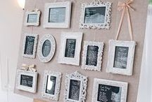 Table Plans for Weddings / Seating your guests in a stylish way.