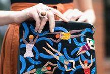 art textile / femme brodee