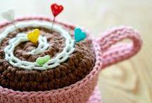 Crochet - Cups and Teapots (Xícaras e Bules crochê)