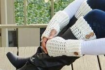 Crochet - Boot Cuffs\Gloves (Punho Bota\Luvas)