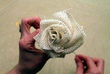 Fiori di carta e di stoffa