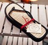 Casamento CHINELINHOS / Inspirações de chinelos e sapatilhas para distribuir na sua festa de casamento