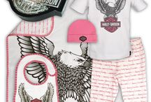 Baby gifts for bikers and Harley Davidson fans / Harley Davidson baby wear and accessories, baby shower gift ideas for bikers and motorcycle riders.