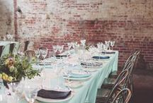 Wedding Tablescapes / Place Settings, Arrangements, Dishes, Seating and Other Things. / by Makaela M