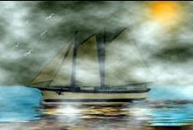 Ships  of the Sea By SmudgeArt Gallery /  Artwork By: SmudgeArt / Madeline M Allen