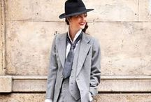 She's The Man / Embrace androgyny as the new understated sexy through crisp cut pantsuits, menswear inspired accessories, and tailored black and white ensembles.