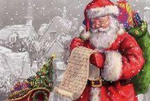 Винтажные Рождественские Открытки / Старые Рождественские и Новогодние открытки. Ностальгическое вдохновение!