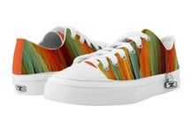 "SmudgeArt Kickers / ""SmudgeArt Kickers"" fun custom ZIPZ high top sneakers designs for men and women."