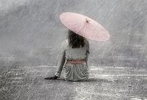 Falling Rain / Sometimes a rainy day is good for us. Sometimes it can kind of slow things down a bit and gives us a chance to think. / by Mysistereli16