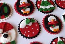 Hollidays desserts (sweet) postres,galletas cupcakes navideños / Postres y alimentos dulces decorados para Navidad