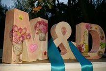 Letters / Letras ,iniciales,para decorar cuartos,etc.