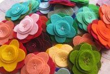 Make a flowers / Cómo fabricar flores en tela y papel