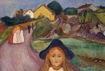 edvard munch / ..hayattan çok ölüme yakın insanlar var sende Edvard.. Sanki beni anlatır gibisin. Sanki bir yerde içimi açmış bakmışsın, anlatamadığım ne varsa sen resmini yapmışsın.. Edvard Munch