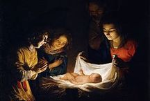 "Little Christmas Eve / ""Born this happy morning; Jesus, to Thee be the glory giv'n; Word of the Father, Now in the flesh appearing..."""