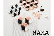 Pearls *:・゚ / Cute Hama pearl patterns