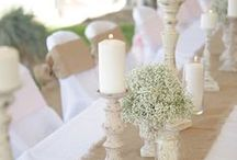 Wedding color : white/ivory / Everyhting white for your wedding. More on www.placedumariage.fr