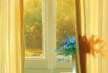 Цветы и окна