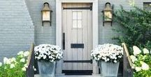 Front Doors / Classic Home Inspiration - Classic, American & Hamptons Style, Doors, Front Doors, Entries, Exterior