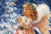 Andělé,motýli a mořské panny / kreslené,barbiny a jiné