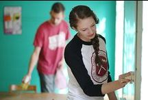 Community Service / Each year, Union University hosts a Campus & Community Day to give back to the Jackson community. The event was formed after UU experienced great generosity from the local area after a devastating tornado. Departments and organizations also have their own service projects throughout the year. / by Union University