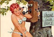 Hilda / kreslená veselá a komická žena