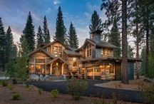 Martis Cabin / Mountain home featuring stunning reclaimed wood exterior built by NSM Construction in Truckee, CA. Architecture by Dennis E. Zirbel. Interior Design by Julie Johnson-Holland.