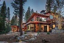 Valhalla Mountain Retreat / Cabin with beautiful Tigerwood siding in Martis Camp, Truckee.  Construction by NSM. Architecture by Sandbox Studios.