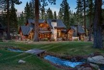 Breakers Cabin / A luxurious and modern cabin in the woods in Martis Camp, Truckee.  Built by NSM Construction.  Architecture by Sandbox Studios.