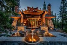 Longwood Cabin / Custom cabin built by NSM Construction in Martis Camp, Truckee.  Architecture by Swaback Partners, pllc.