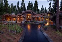 Holmgrove Home / A modern and refined take on a log cabin, custom-built by NSM Construction in Truckee, CA.