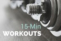 15-Min Workouts / Quick and effective fitness workouts. Workout Plans, Weight Loss, Workout Exercises, Exercise.