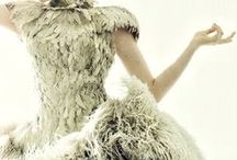 Bella Fashion:  Feathers and Furs / Feathers and Furs adorn these garments to bring a rich and playful feel