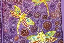 Silk Dragonfly Scarves By Cyn Mc / Hand Painted Silk Scarves By Cynthia Ann McDonald @ StarlitSkies.com