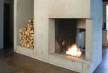 Fireplace Inspiration / Made possible with Cemcrete cement-based finishes.
